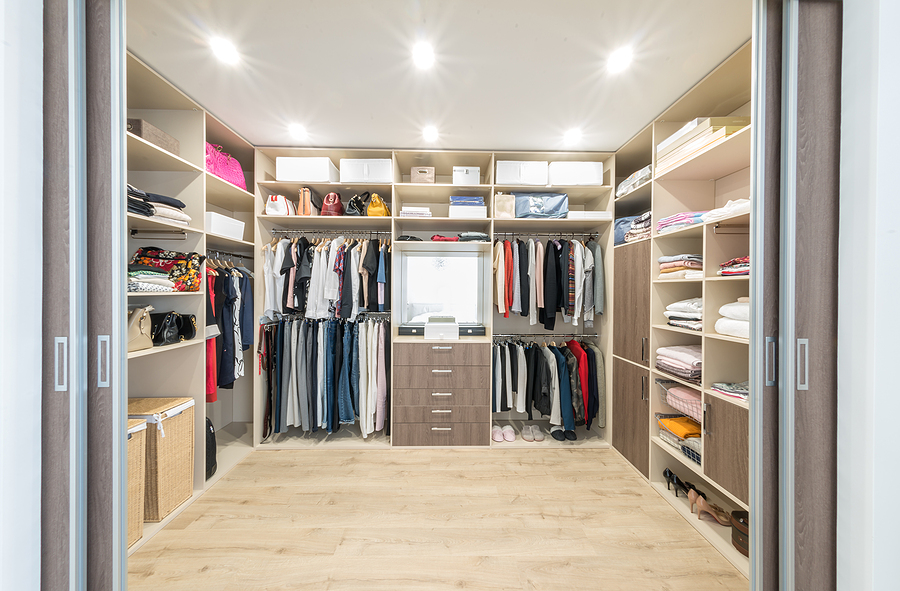 huge space for walk in closet